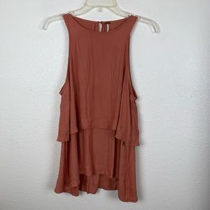 Free People Layers in Love Tunic Dark Apricot XS